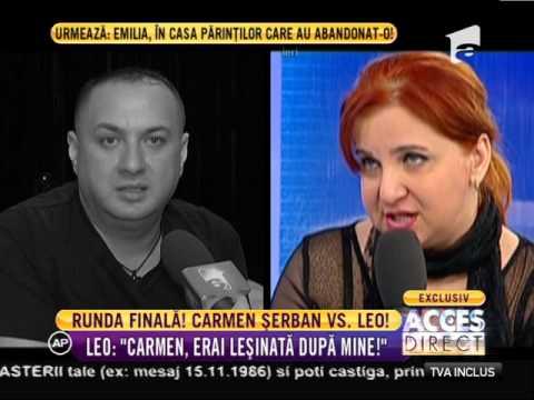 Război între Carmen Șerban și Leo de la Strehaia!