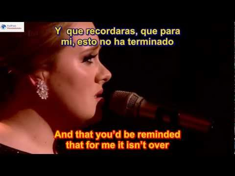 Adele - Someone Like You SUBTITULADO EN ESPAÑOL Y EN INGLES  SUB HD LYRICS