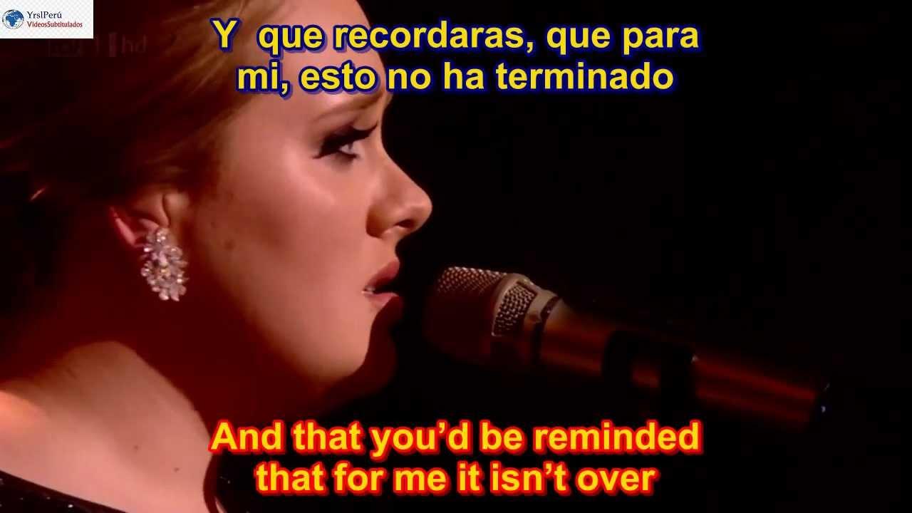 Adele Someone Like You Subtitulado En Espanol Y En Ingles Sub Hd Lyrics Youtube