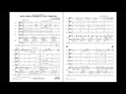 How Does a Moment Last Forever (from Beauty and the Beast) arr. O'Loughlin