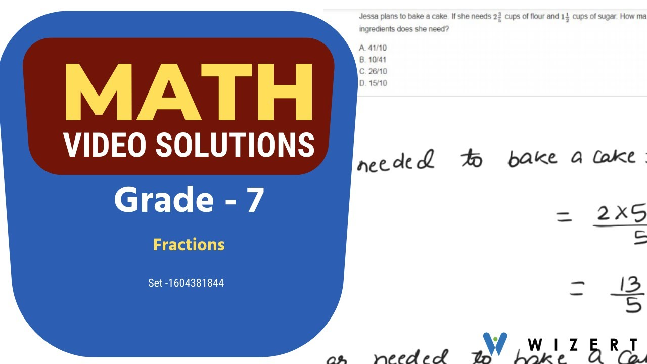 medium resolution of Grade 7 Mathematics Worksheets - Fractions worksheet pdfs for Grade 7 - Set  1604381844 - YouTube