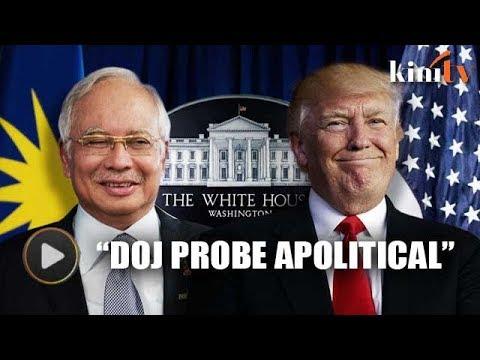 White House: DOJ probe into 1MDB scandal apolitical