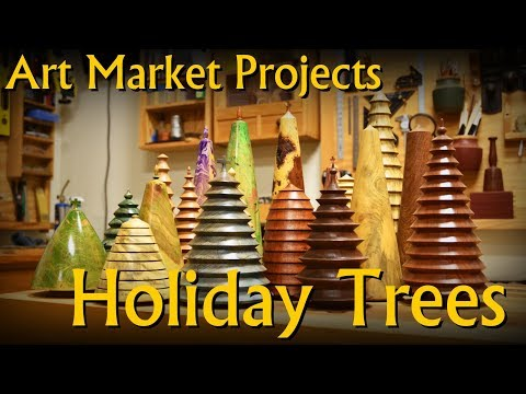 Making Solid Wood Holiday (meta) Tree Decoration - Art Market Projects