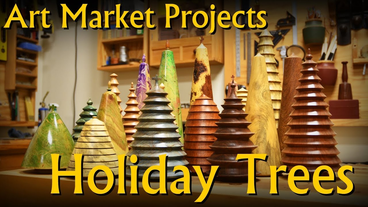 Making Solid Wood Holiday Meta Tree Decoration Art Market Projects