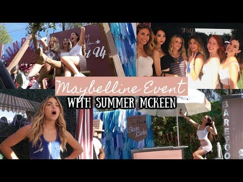 MAYBELLINE EVENT WITH SUMMER MCKEEN | ALEXA WISENER thumbnail
