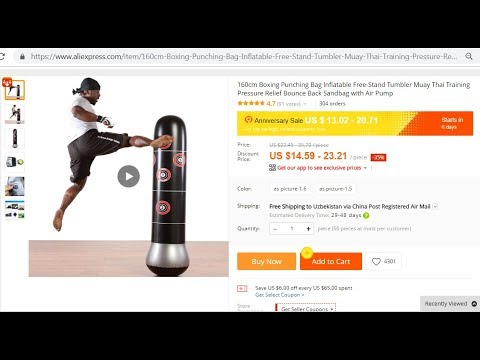 Inflatable Punching Bag From AliExpress