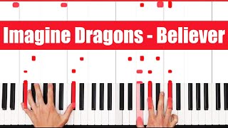 Believer Imagine Dragons Piano Tutorial - VOCAL