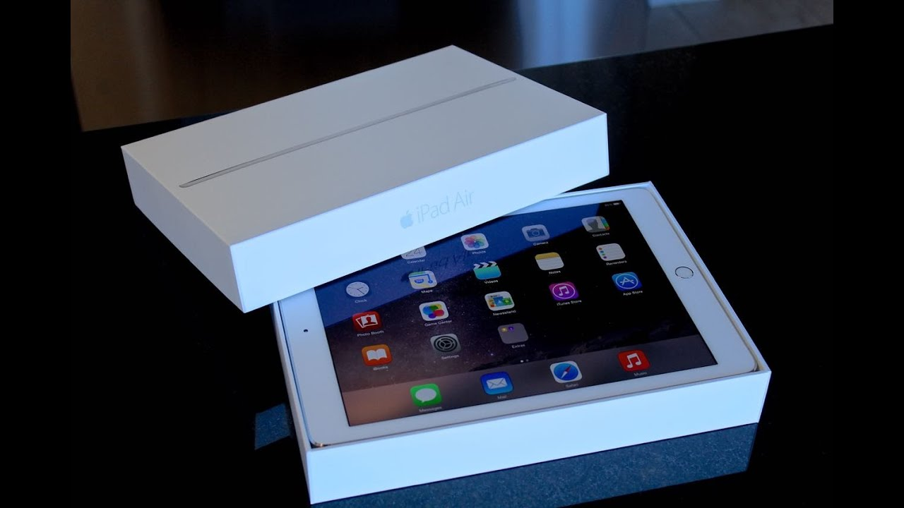 ipad air 2 unboxing cinematic 64 gb silver youtube. Black Bedroom Furniture Sets. Home Design Ideas