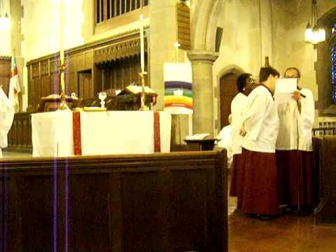 Bob Laake performs Sia Hamba with friends @ Grace Episcopal Church Cincinnati Ohio Penticost Sunday 09
