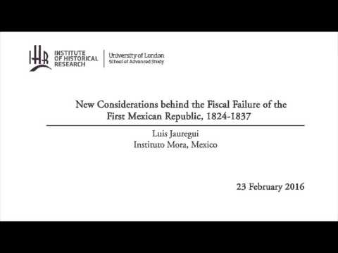New Considerations behind the Fiscal Failure of the First Mexican Republic, 1824-1837