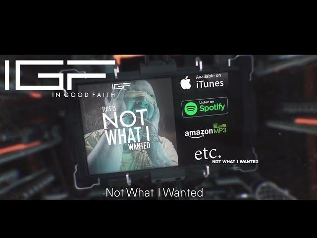 In Good Faith - Not What I Wanted | New Single 2019 (Out Now) *Musik-Music*