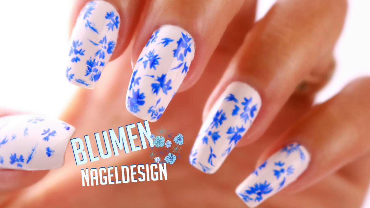 einfaches blumen nageldesign zweifarbig easy flower nail art design wiht bicolor youtube