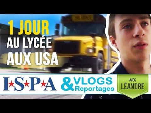 1 jour au lycée aux #USA - Vlog #2 - Léandre avec ISPA