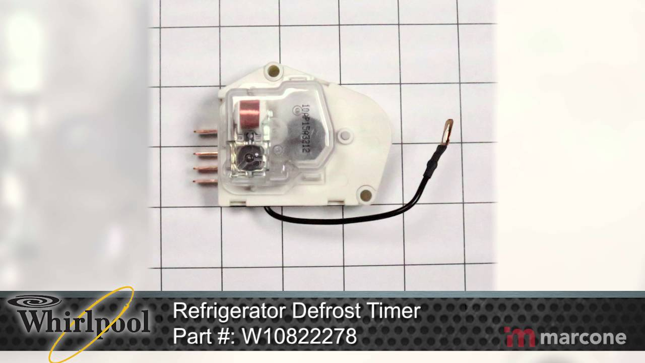 Whirlpool Refrigerator Defrost Timer Part #: W10822278 on