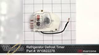 w10822278Whirlpool 482493 Defrost Timer Kit 120v 60hz Partselect #7