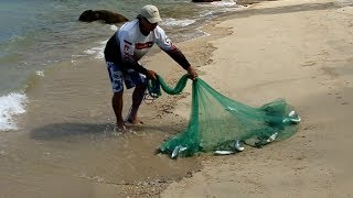 A clean way to throw a cast net