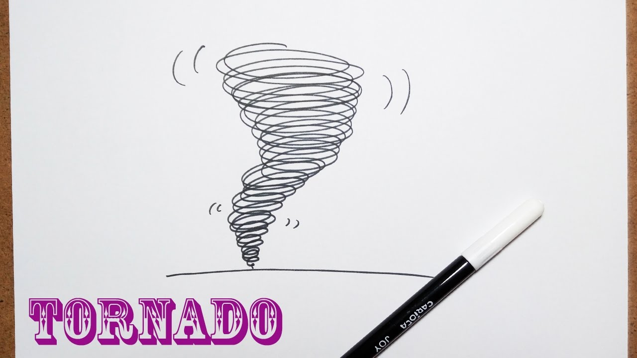 Howto draw a tornado in 20 seconds very easy drawing for kids youtube