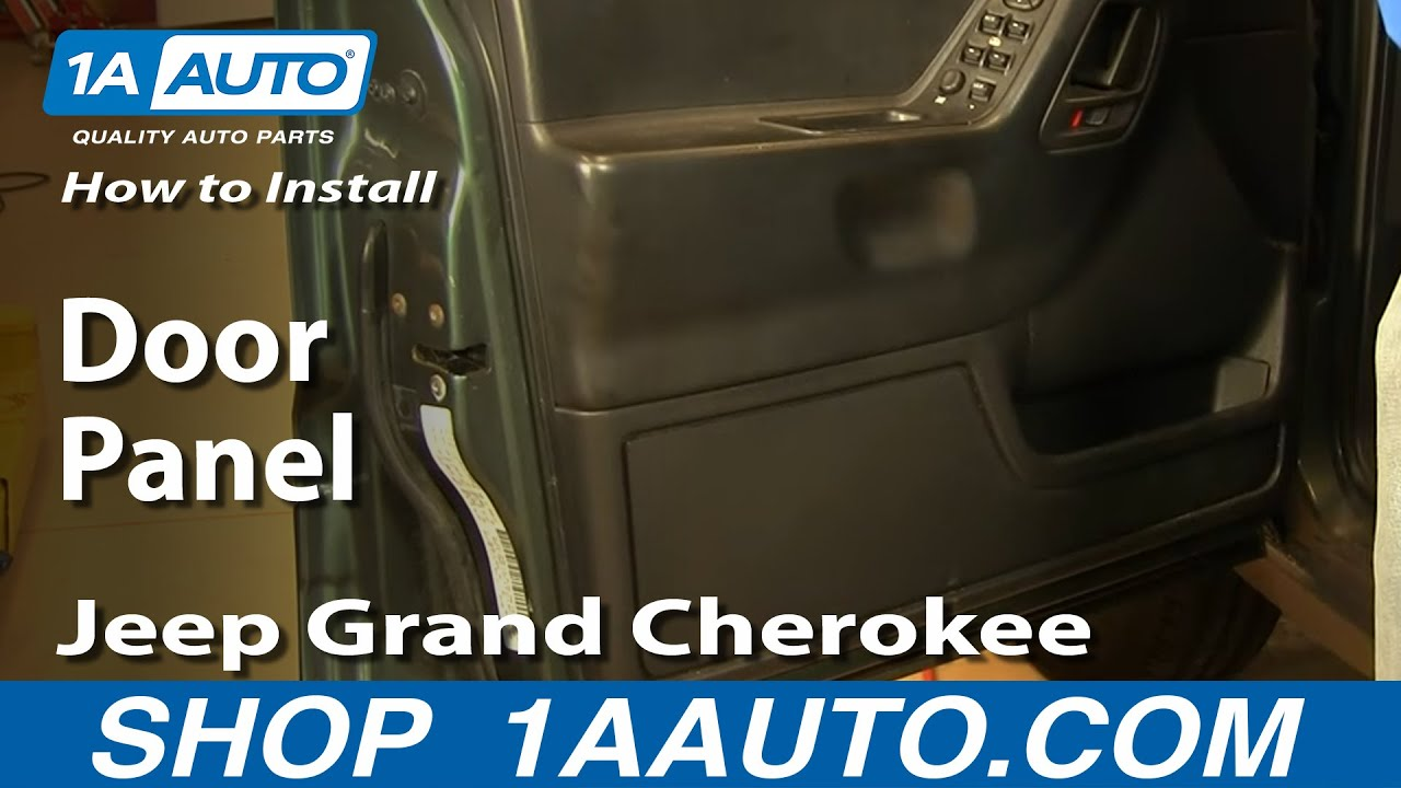 how to install replace door panel jeep grand cherokee 99 04 1aauto com [ 1280 x 720 Pixel ]