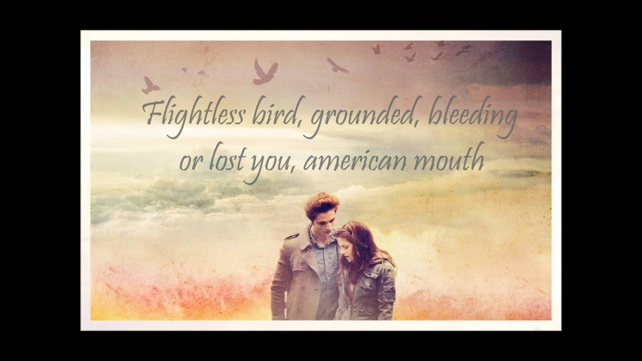 Lyrics to flightless bird by iron and wine