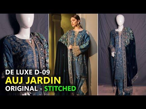 e5e7134a97 Auj Jardin Collection 2019 ⭐ Stitched De Luxe D09 👌 Pakistani Branded Dress  - YouTube