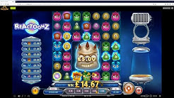 Online Session with Lightning Roulette, Monopoly Live + Slots inc Reactoonz, Book of Dead + More