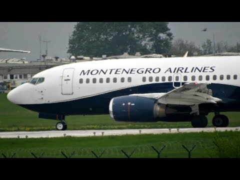 Montenegro Airlines Boeing 737-505 Takeoff From Belgrade Airport