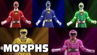Power Rangers Turbo - All Ranger Morphs | Episodes 1-45 | It