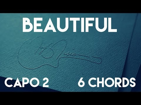 How To Play Beautiful by Bazzi | Capo 2 (6 Chords) Guitar Lesson