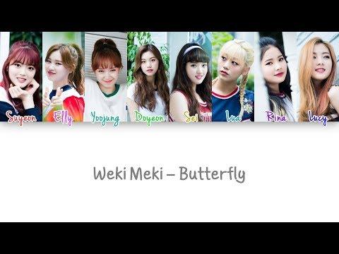 Weki Meki - Butterfly Lyrics (Color Coded han|rom|eng)