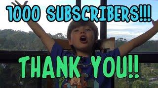 Video 1000 Subscribers!! THANK YOU (Vlog #1) download MP3, 3GP, MP4, WEBM, AVI, FLV November 2017