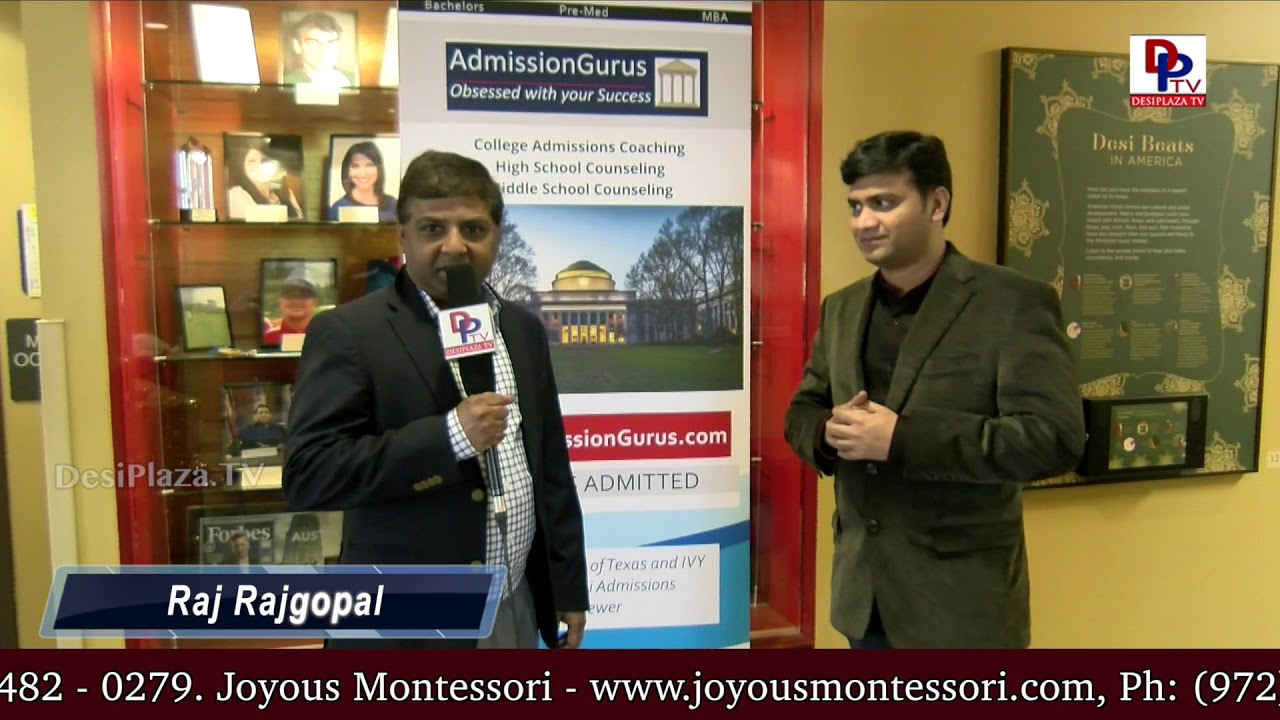 Raj Rajagopal, Admission Gurus, Gold Sponsor for NATA Austin Women's Day speaks to DesiplazaTV
