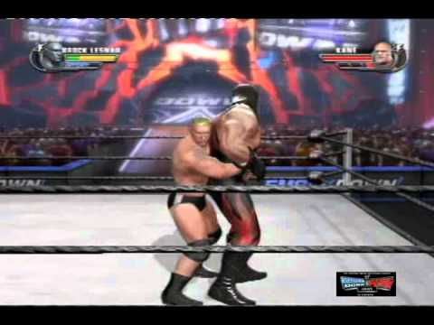 brock lesnar vs masked kane WWE all stars