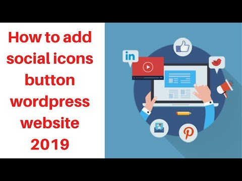 How to add social icons button wordpress website 2019   Digital Marketing Tutorial thumbnail