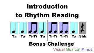 Introduction to Reading Rhythms: Bonus Challenge