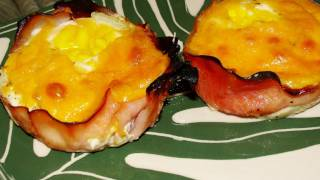"Ham And Egg ""muffin"" Breakfast Cups"