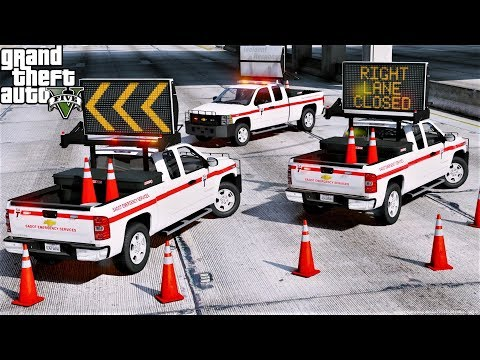 GTA 5 Mods New DOT Emergency Message Board Response Truck With Custom Working Messages & Arrows