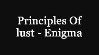 Principles Of Lust Enigma With Lyrics In Description