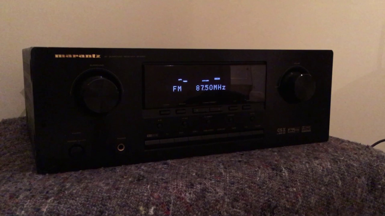 Beste How to reset the Marantz SR4300 receiver amplifier - YouTube IV-68
