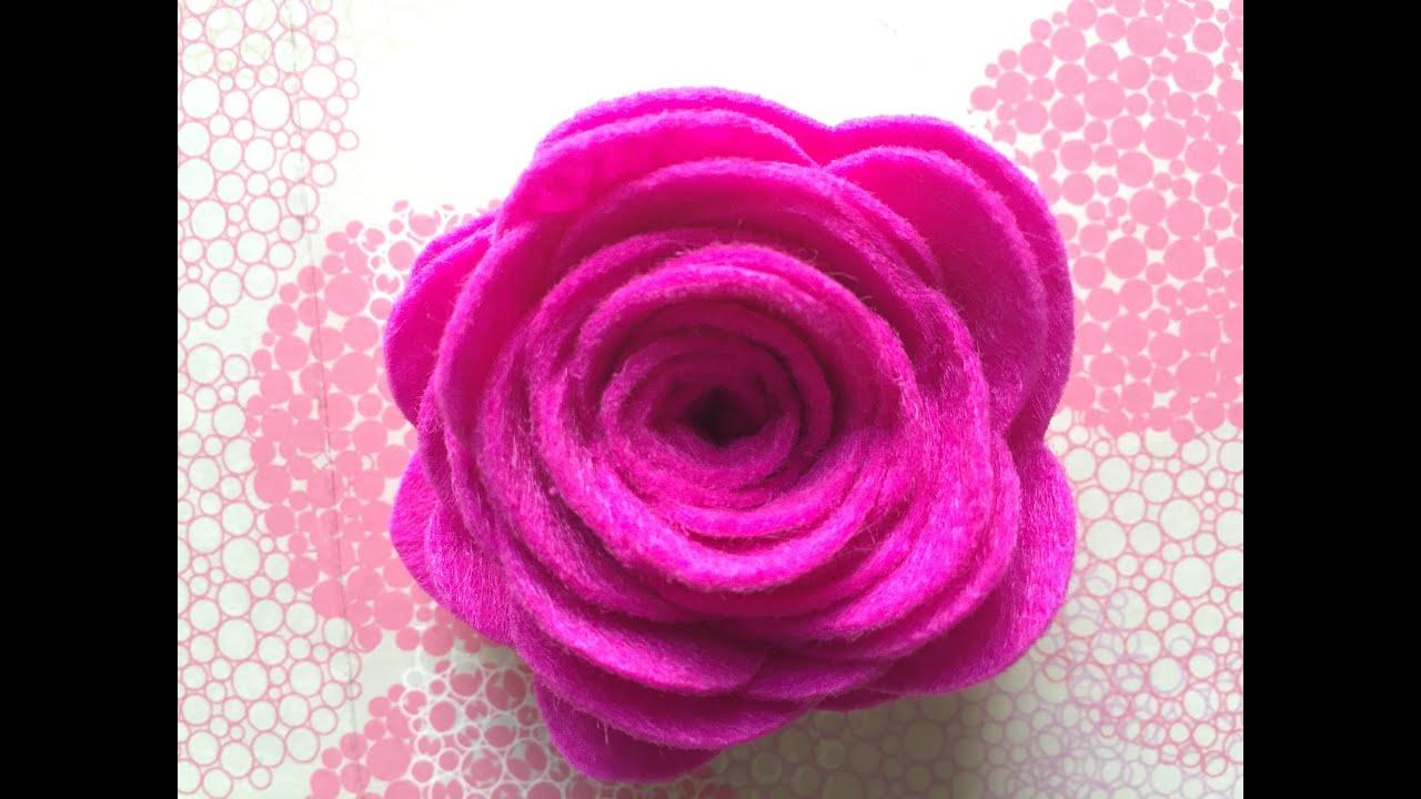 Felt Flower Brooch Craft