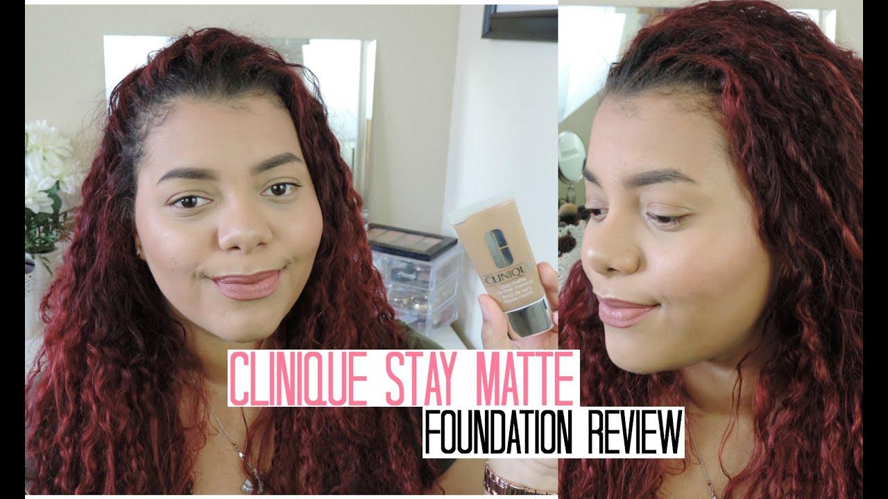 Clinique Stay Matte Oil Free Foundation Review Demo Tasha Castro