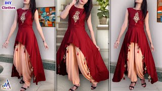Trendy !!! Party Wear Kurti Design - Cutting & Stitching Step By Step