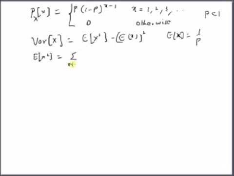 Geometric Distribution: Variance