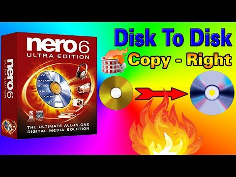 How To ( Copy - Right = DVD ) Using Nero Software
