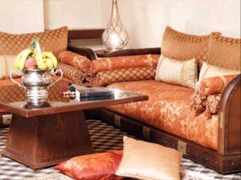salons marocains 2014 - Salon Marocain Moderne Orange Marron