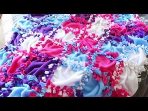 how to make a no sew fleece blanket with fringe