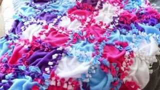 How To Make A No Sew Fleece Blanket (patchwork!)