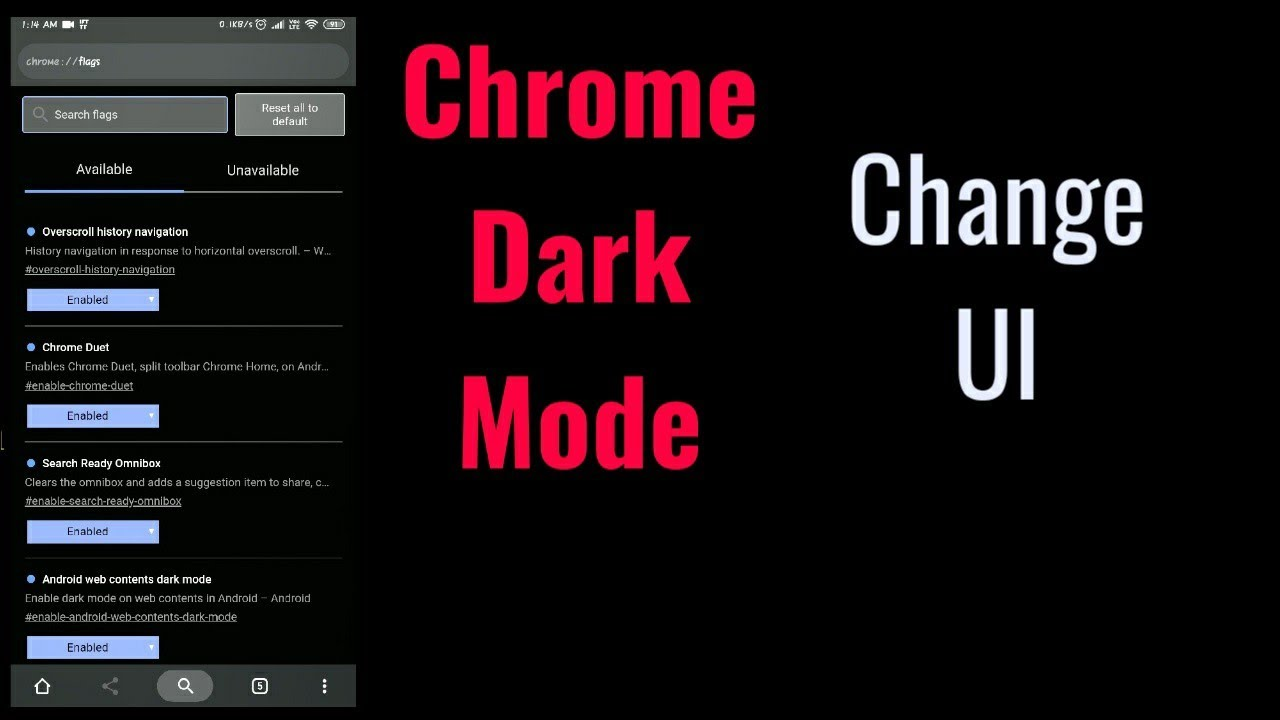 Android Chrome Enable Dark Mode And Other Hidden Features In Stable Chrome  Version (No Beta )