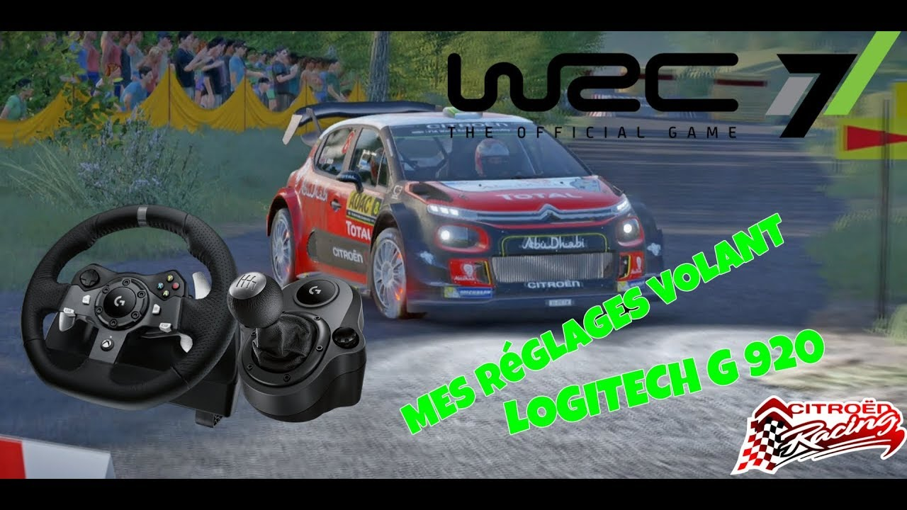 wrc 7 mes r glages volant logitech g 920 xbox one s youtube. Black Bedroom Furniture Sets. Home Design Ideas