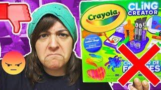 DON'T BUY! 15 REASONS Crayola Cling Creator Kit is NOT worth it w/ Moriah Elizabeth SaltEcrafter #18