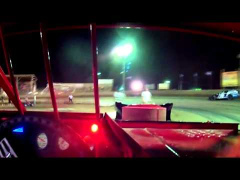 Mike Harrison In Car | Belle-Clair Speedway | Modified Feature 8.9.13